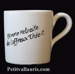 CERAMIC MUG WHITE COLOR WITH CUSTOMIZED INSCRIPTION