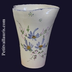 VASE GLAIEUL BLUE FLOWERS DECORATION HEIGHT 25 CM