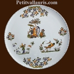 PLAT A TARTE DECOR TRADITION VIEUX MOUSTIERS