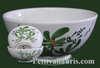 SIMPLE BOWL MODEL GREEN FLOWERS DECORATION