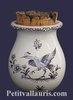 PROVENCE GRASS POT OLD MOUSTIERS BLUE TRADITION DECORATION