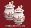 MUSTARD POT JAR MODEL PINK FLOWERS DECORATION