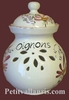 CERAMIC ONIONS POT PINK FLOWER COLOR DECORATION WITH TEXT