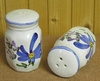 SALTCELLER & PEPPER POT BLUE FLOWERS DECORATION