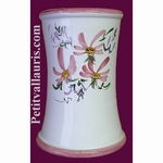 BIG USTENSILS KITCHEN CERAMIC SUPPORT PINK FLOWERS DECO