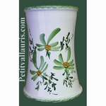 BIG USTENSILS KITCHEN CERAMIC SUPPORT GREEN FLOWERS DECO