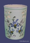 USTENSILS KITCHEN CERAMIC SUPPORT BLUE FLOWERS DECORATION