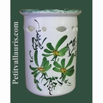USTENSILS KITCHEN CERAMIC SUPPORT GREEN FLOWERS DECORATION
