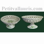 CUP ON FEET GREEN COLOR FLOWER DIAMETER 30