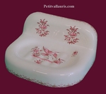 PORTE SAVON MODELE MURAL DECOR TRADITION VIEUX MOUSTIER ROSE