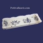 PLAT A CAKE DECOR TRADITION VIEUX MOUSTIERS BLEU