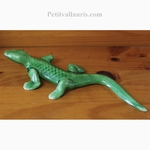 LARGE SIZE GREEN LIZARD TO WALL SUSPEND
