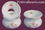 ANTI SMOKE ASHTRAY SMALL SIZE PINK OLD MOUSTIERS DECORATION