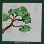 TILE EXOTIC DECORATION PINE TREE MODEL ON FAIENCE TILE