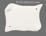 PARCHMENT HOME PLAQUE FAIENCE WHITE COLOR