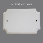HOME PLAQUE FAIENCE WHITE COLOR STYLE MODEL