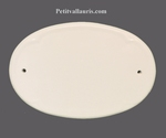 DOOR NAME PLAQUE OVAL MODEL WHITE COLOR