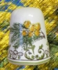 FAIENCE SEW DICE MIMOSAS BRANCH MODEL DECORATION