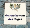 PLAQUE DE VILLA  FAIENCE DECOR PERSONNALISE L' ANGES