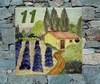 HOUSE CERAMIC PLAQUE COUNTRYSIDE PROVENCALE AND LAVANDERS