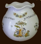 VASE SWELL MODEL LACE AVERAGE WITH CUSTOMISED INSCRIPTION