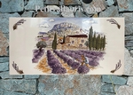 FRESQUE FAIENCE RECTANGULAIRE DECOR PAYSAGE PROVENCE