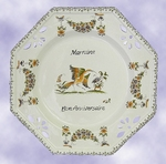 FAIENCE OCTAGONAL PLATE LARGE MODEL WITH CUSTOMIZED TEXT