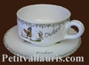 CERAMIC LARGE CUP AND UNDER PLATE CUSTOMIZED