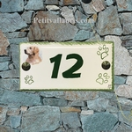 HOUSE PLAQUE RECTANGLE SMALL MODEL LABRADOR DECORATING