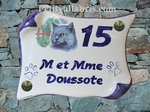 HOUSE PLAQUE PARCHMENT SMALL MODEL CAT PAINTING NUMBER 1