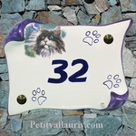 HOUSE PLAQUE PARCHMENT SMALL MODEL CAT PAINTING NUMBER 5