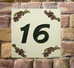 HOME NUMBER PLAQUE SIZE 15 X 15 CHESTNUT DECORATING VARIED