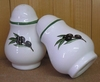 CERAMIC PEPPER POT WITH BLACK OLIVE DECOR (UNIT)