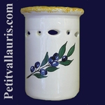 USTENSILS KITCHEN CERAMIC SUPPORT BLUE OLIVES DECORATION