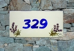 HOUSE PLAQUE RECTANGLE MODEL LAVANDER BRANCH PAINT