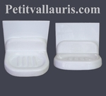 WALL CARRY SOAP ON TILE WHITE COLOR ENEMALLED