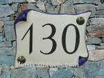 HOUSE PLAQUE PARCHMENT SMALL SIZE FIRST PRICE MODEL (BLUE)