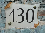HOUSE PLAQUE PARCHMENT SMALL SIZE FIRST PRICE MODEL (OCHRE)
