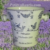 CUSTOMIZED CHAMPAGNE BUCKET MOUSTIERS BLUE TRADITION DECOR