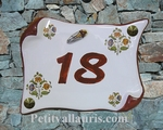 HOUSE PLAQUE SMALL MODEL PARCHMENT WITH CICADA RED BORDER