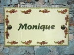 HOUSE PLAQUE RECTANGLE BIG MODEL SWETT CHESTNUT DECORATION