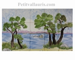 FRESCO TILES CERAMIC SEASIDE RIVIERAHAND MADE DECOR