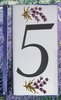 HOME ADDRESS NUMBERS (5) TO UNIT LAVENDERS DECORATION