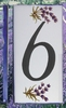 HOME ADDRESS NUMBERS (6) TO UNIT LAVENDERS DECORATION