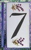 HOME ADDRESS NUMBERS (7) TO UNIT LAVENDERS DECORATION