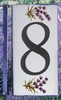 HOME ADDRESS NUMBERS (8) TO UNIT LAVENDERS DECORATION