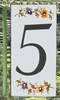 HOME ADDRESS NUMBERS (5) TO UNIT MOUSTIERS DECORATION