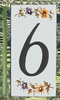 HOME ADDRESS NUMBERS (6) TO UNIT MOUSTIERS DECORATION