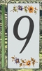 HOME ADDRESS NUMBERS (9) TO UNIT MOUSTIERS DECORATION