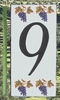 HOME ADDRESS NUMBERS (9 TO UNIT GRAPE DECORATING